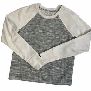 Athleta Pullover Sweatshirt Long Sleeve Top Gray